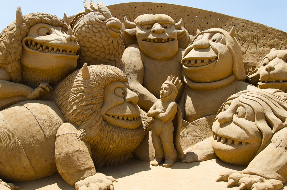 Where the Wild Things Are sand sculpture
