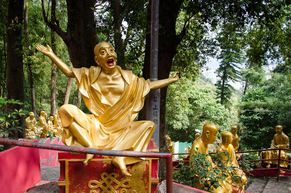 excited buddha