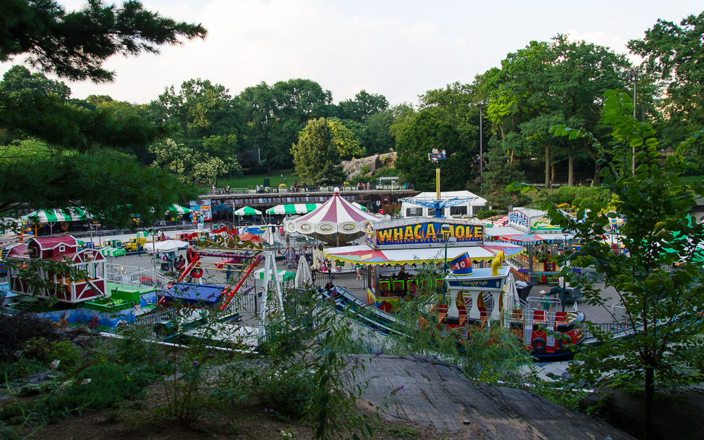 This Little Amusement Park Gets Set Up In Central Park, New York In The  Summer.