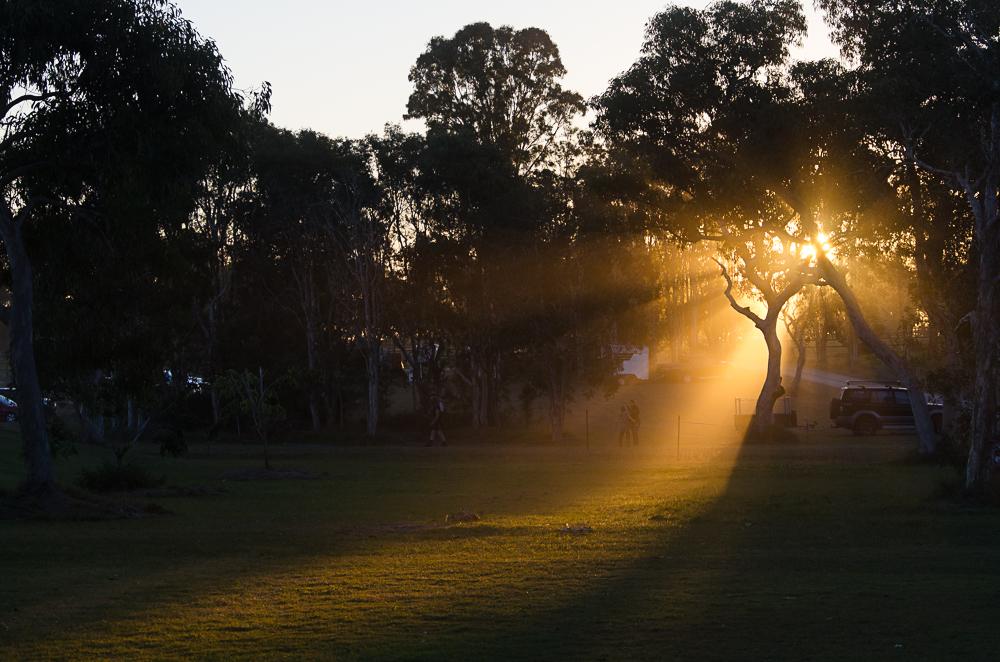 Last rays of sun